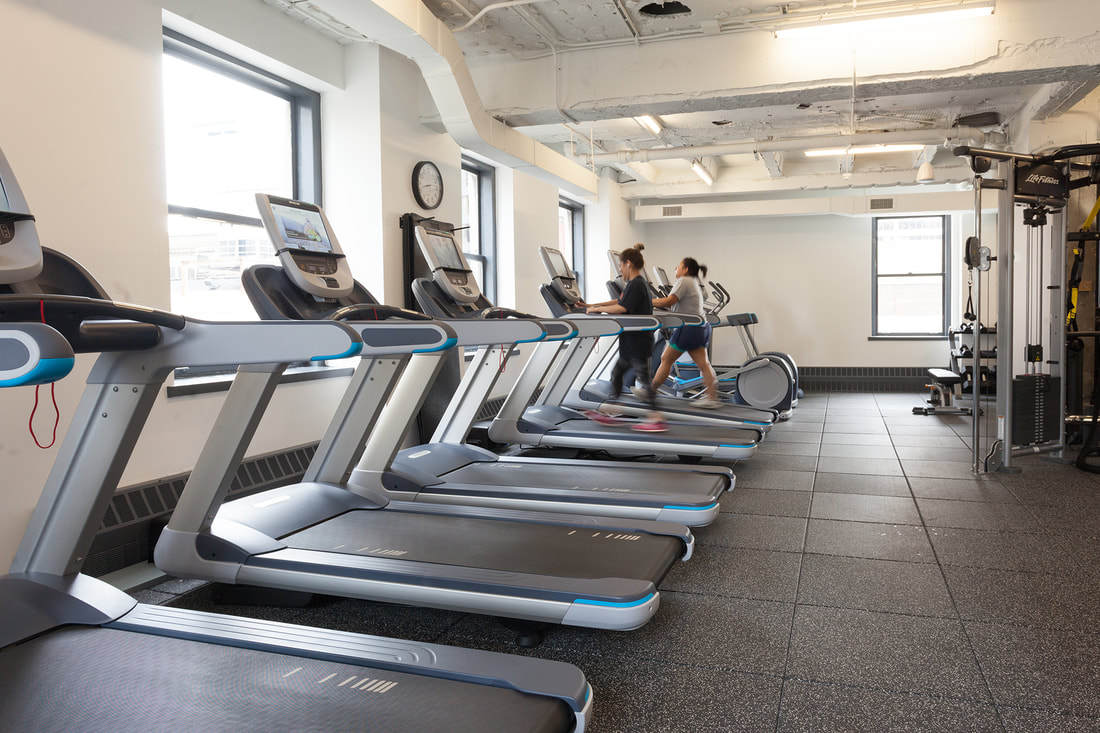 Treadmills in the building gym